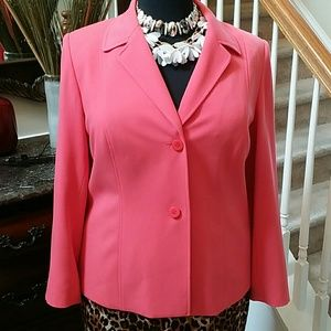 Jackets & Blazers - Coral fully Lined Career Blazer